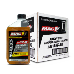 MAG 1 5W30 European Formula API SN ACEA C3 Full Synthetic Oil for Gasoline and Diesel Engines 1qt (946ml), 1 case of 6 qts PN#63278 image here