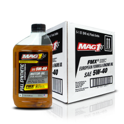 MAG 1 5W40 European Formula API SN ACEA A3/B4 Full Synthetic Oil for Gasoline and Diesel Engines 1qt (946ml), 1 case of 6 qts PN#62836 image here