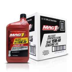 MAG 1 15W40 All Fleet API CK-4/SN Synthetic Blend Oil for Gasoline and Diesel Engines (Heavy Duty) 1qt (946ml), 1 case of 6 qts PN#65033 image here