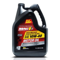 MAG 1 10W40 High Mileage API SN Synthetic Blend Oil for Gasoline Engines 1gal (3.785L) PN#64843 image here