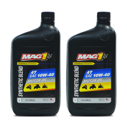 MAG 1 10W40 JASO MA2 API SL Synthetic Blend 4T Oil 1qt (946ml) PN#62971 Pack of 2 image here