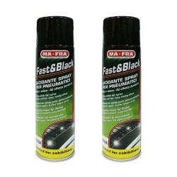 Ma-Fra Fast & Black Polish for Tyres 500ml HO056 (Pack of 2) image here