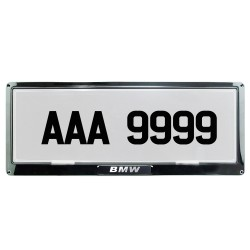 Deflector Vehicle License Plate Cover Protector Stainless Steel Frame and Flat Center for Isuzu DPC-999-C-IS image here