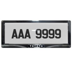 Deflector Vehicle License Plate Cover Protector for NEW License Plates Convex Center for Toyota DLP-8019-C-TO image here
