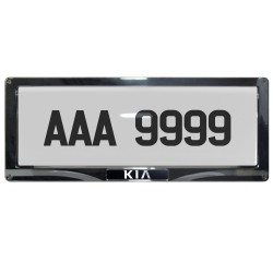 Deflector Vehicle License Plate Cover Protector for NEW License Plates Convex Center for Kia DLP-8019-C-KI image here