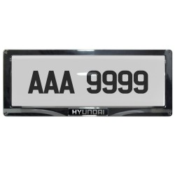 Deflector Vehicle License Plate Cover Protector for NEW License Plates Convex Center for Hyundai DLP-8019-C-HY image here
