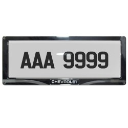 Deflector Vehicle License Plate Cover Protector for NEW License Plates Convex Center for Chevrolet DLP-8019-C-CH image here