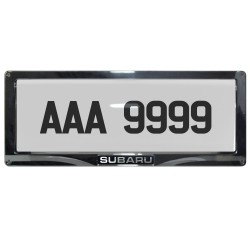 Deflector Vehicle License Plate Cover Protector Convex Center for Subaru DPC-801-C-SB image here