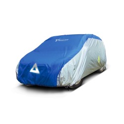Deflector DCCB-HW1-SB Car Cover for Hatchback (Silver/Blue) image here