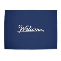 Floorguard Welcome Door Mat, Blue, #FGM-20-BL image here