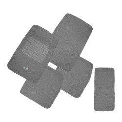 Floorguard Coil Mat w/ Spike Back 5pcs/set, Grey, #FGM-A108-12GY image here
