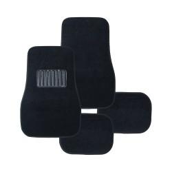 Floorguard PVC Carpet Mat w/ Heel Pad 4pcs/set, Black, #FM15-8001 image here
