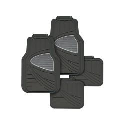 Floorguard PVC/NBR Rubber Car Mat 4pcs/set, Black w/ Grey Heel Pad, #FM15-1863P-BK/GY image here