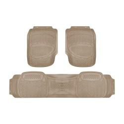 Floorguard PVC/NBR Rubber Car Mat 3pcs/set, Beige #FGM-2801-3 BE image here