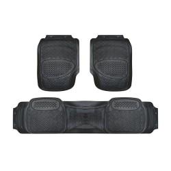Floorguard PVC/NBR Rubber Car Mat 3pcs/set, Black #FGM-2801-3 BK image here