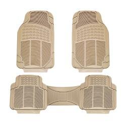 Floorguard PVC/NBR Rubber Car Mat 3pcs/set Beige FM-1107P-3BE image here