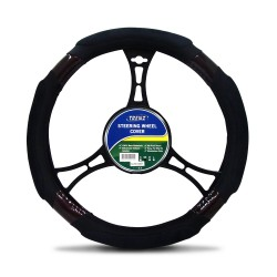 Trenz Steering Wheel Handle Cover 38cm Diameter TSHC-H2061-38-BK/BR image here