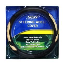 Trenz Steering Wheel Handle Cover 38cm Diameter TSHC-H2039-38-BK/BE image here