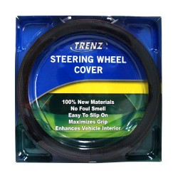Trenz Steering Wheel Handle Cover 38cm Diameter TSHC-H2007-38-BK/OR image here