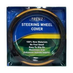Trenz Steering Wheel Handle Cover 38cm Diameter TSHC-H2000-38-BK/YW image here