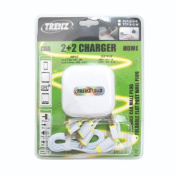 Trenz All-in-One Car and Travel Charger #TCP-2+2-W image here