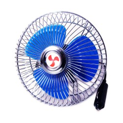 Trenz 6-inch Semi-Closed Metal Car Fan with Cigarette Lighter Plug 12V TCF-Y5804-6 image here