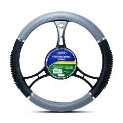 Trenz Steering Wheel Handle Cover 38cm Diameter TSHC-H759-38-BK/GY image here
