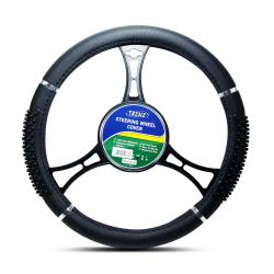 Trenz Steering Wheel Handle Cover 38cm Diameter TSHC-H759-38-BK image here