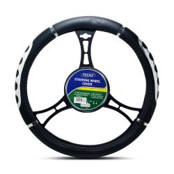 Trenz Steering Wheel Handle Cover 38cm Diameter TSHC-H740-38-BK image here