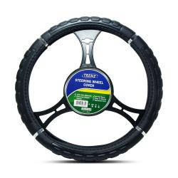 Trenz Steering Wheel Handle Cover 38cm Diameter TSHC-H738-38-BK image here