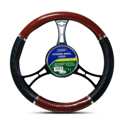 Trenz Steering Wheel Handle Cover 38cm Diameter TSHC-H715-38-BK/RD,TSHC-H715-38-BK/RD image here
