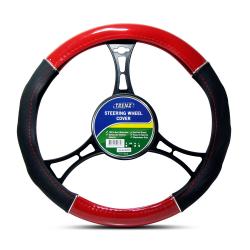 Trenz Steering Wheel Handle Cover 38cm Diameter TSHC-H663-38-BK/RD,TSHC-H663-38-BK/RD image here