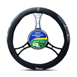 Trenz Steering Wheel Handle Cover 38cm Diameter TSHC-H617-38-BK/GY image here