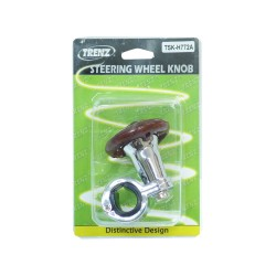 Trenz Steering Knob Ring + Chrome Body Wooden TSK-H772A image here