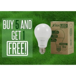RHLED 9 WATTS LED DIMMABLE BULB (WARM WHITE) - BUY 5 GET 1 image here