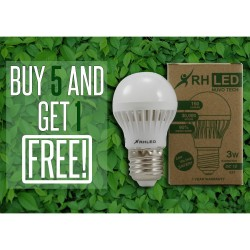 RHLED 3 WATTS 12V DC LED BULB (WARM WHITE) - BUY 5 GET 1  BL5103WW image here