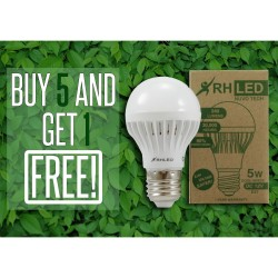 RHLED 5 WATTS 12V LED BULB (COOL WHITE) - BUY 5 GET 1 image here