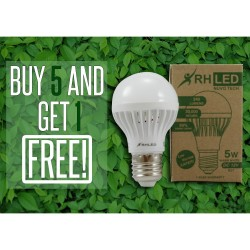 RHLED 5 WATTS 12V LED BULB (WARM WHITE) - BUY 5 GET 1 image here