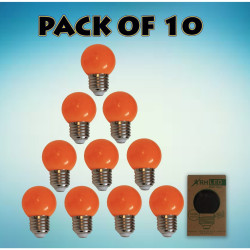 RHLED COLORED ROUND BULB (ORANGE) - PACK OF 10 orange BL2101OR image here