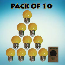 RHLED COLORED ROUND BULB (YELLOW) - PACK OF 10 yellow BL2101YL image here