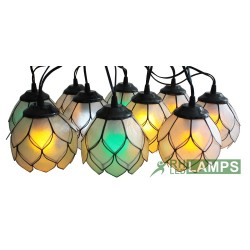 CAPIZ LILY STRING LIGHTS SET OF 10 (WITH COLORED LED BULBS) image here