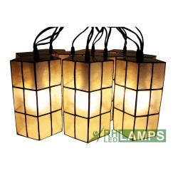 CAPIZ AMORE STRING LIGHTS SET OF 10 image here
