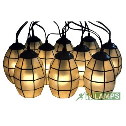 CAPIZ MINI OVAL STRING LIGHTS SET OF 10 image here