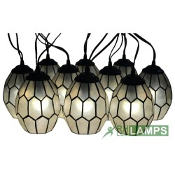 CAPIZ HONEYCOMB STRING LIGHTS SET OF 10  XP0960 image here