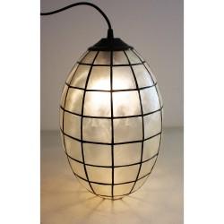 CAPIZ OVAL HANGING LAMP image here