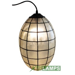 CAPIZ OVAL HANGING LAMP image here