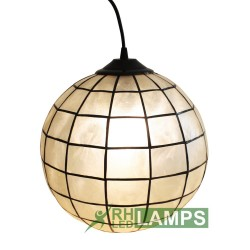 CAPIZ BALL HANGING LAMP  EC1140RG image here