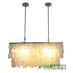 RHLED LAMPS, LARGE RECTANGULAR CAPIZ CHANDELIER,  LC5017 image here