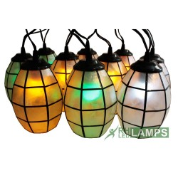 CAPIZ MINI OVAL STRING LIGHTS SET OF 10 (COLORED LED BULBS) image here