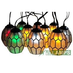 RHLED Lamps, CAPIZ HONEYCOMB STRING LIGHTS SET OF 10,  XP0960CB image here